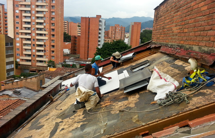 The Penthouse in Medellin Roof Getting Fixed