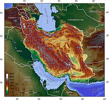Topographical Map Of Iran