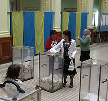 Voting in the Ukraine