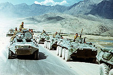Russian Tanks And Troops On The Move
