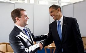 American President Obama With Russian President Medvedev 2009