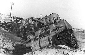 Destroyed Tank in the Sinai 1956