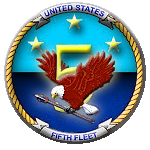 Symbol Of The 5th Fleet Of The United States In The Persian Gulf