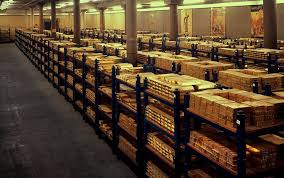 Gold Stored In A Bank Vault