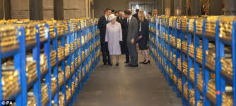 Gold Stored In London: A Royal Visit