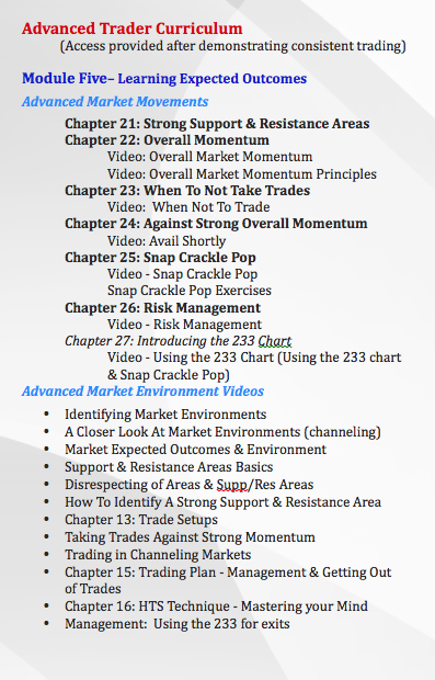 Experienced Traders Curriculum
