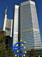 The New European Central Bank In Frankfurt Germany