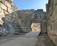Lions Gate in Mycenae