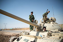 Tank Outside Kirkuk In Iraq