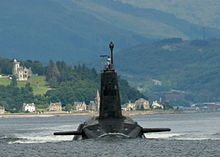 Trident Nuclear Submarine In Scotland
