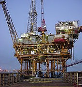 Mexican Gulf Offshore Oil Platform