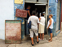 Lines For Food At Cuban Store