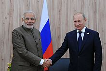Prime Minister Modi With Russian President Putin At BRICS Summit