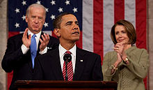 Barack Obama Addresses The Democratic Controlled Congress in 2009