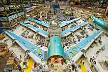 American Made Boeing 747-8 Wing-Fuselage Sections During Final Assembly