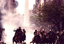 Police Dealing With Protesters In Buenos Aires, Argentina