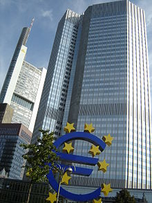The European Central Bank Building In Frankfurt Germany