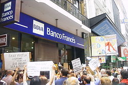 Protests Of Banking Customers In Argentina