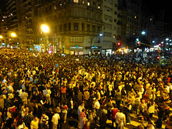 Demonstration Of Protest Against President Fernandez At Santa Fe And Callao Streets, Buenos Aires, Argentina