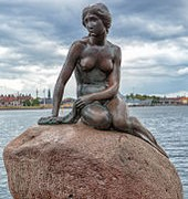 The statue of the Little Mermaid, an icon of the city and a popular tourist attraction In Denmark