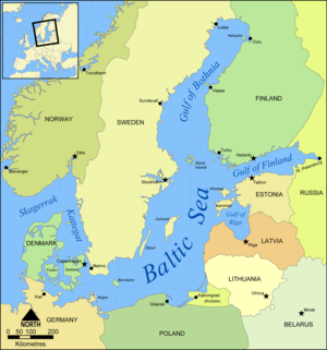 Countries Of The Baltic In Northern Europe