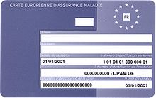 European Health Insurance Card. (French version pictured)