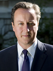 Prime Minister David Cameron Head Of The Conservative Tory Party