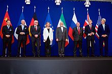 The Ministers Of Foreign Affairs Of France, Germany,The European Union, Iran, The United Kingdom And The United States As Well As Chinese And Russian Diplomats Announcing The Framework Of A Comprehensive Agreement On The Iranian Nuclear Program