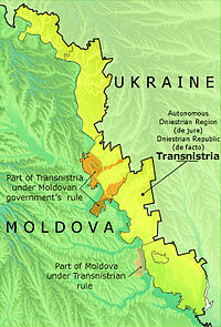 Political Map Of Transnistria
