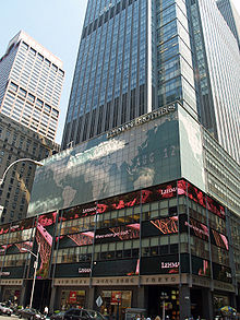 The former New York City Headquarters Of Lehman Brothers Now Owned By Barclays.