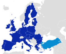 After becoming one of the first members of the Council of Europe in 1949, Turkey became an associate member of the EEC in 1963.