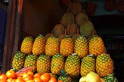 Pineapples On A Fruit Stand In Cagayan de Oro.