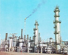 Iran manufactures 60–70% of its industrial equipment domestically, including refineries, oil tankers, drilling rigs, offshore platforms and exploration instruments.[1]