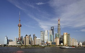 The Lujiazui Financial District Of Pudong, Shanghai, The Financial And Commercial Hub Of Modern China