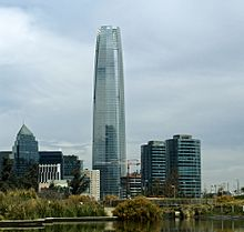 Sanhattan, The Financial District In Santiago de Chile.