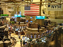 The NYSE trading floor in the United States