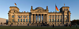 German unity was established 3 October 1990.[73] Since 1999, the Reichstag building in Berlin has been the meeting place of the Bundestag, the German parliament.