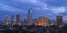 Jakarta, the capital of Indonesia and the country's largest commercial center.