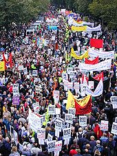Anti-War protest in London, United Kingdom