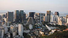 Central Business District of Rio de Janeiro. Largest city in Brazil