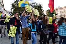 Kurdish demonstration against ISIL in Vienna, Austria, 10 October 2014