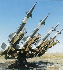 Soviet/Egyptian S-125 anti-aircraft type missiles in the Suez Canal vicinity
