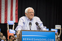 Sanders campaigning in New Orleans, Louisiana, July 2015