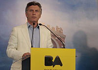 Macri during a press conference in 2013.