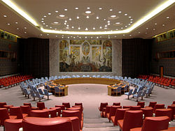 UN Security Council Chamber in New York City