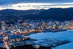 Wellington, capital and 2nd largest city in New Zealand