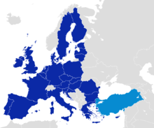 After becoming one of the first members of the Council of Europe in 1949, Turkey became an associate member of the EEC in 1963, joined the EU Customs Union in 1995 and started full membership negotiations with the European Union in 2005.