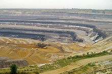 Strip mining lignite at Tagebau Garzweiler near Grevenbroich, Germany.