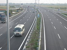 A section of the North–South Expressway in Vietnam linking Cầu Giẽ and Ninh Bình