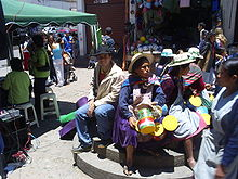 People in La Paz city centre.